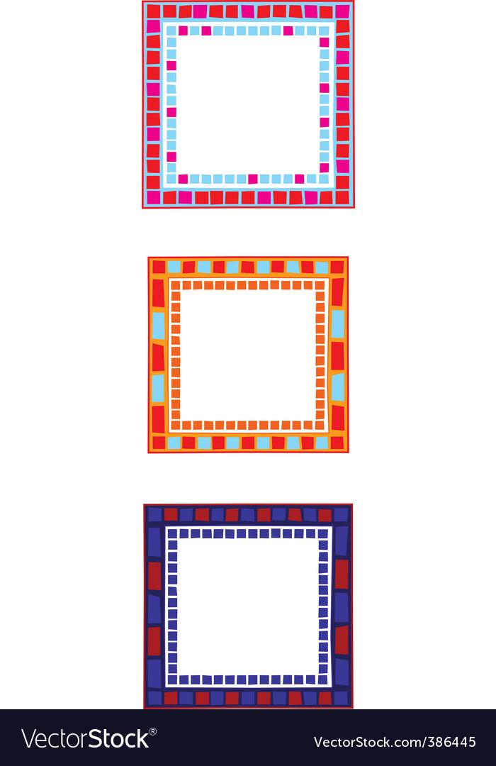 Mosaic border vector by dayzeren - Image #386445 - VectorStock