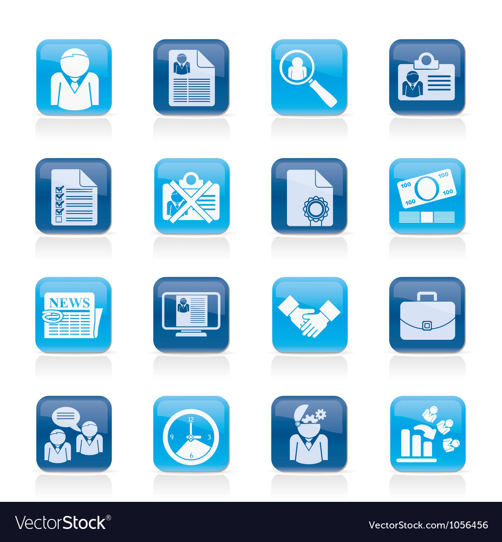 Employment and jobs icons vector