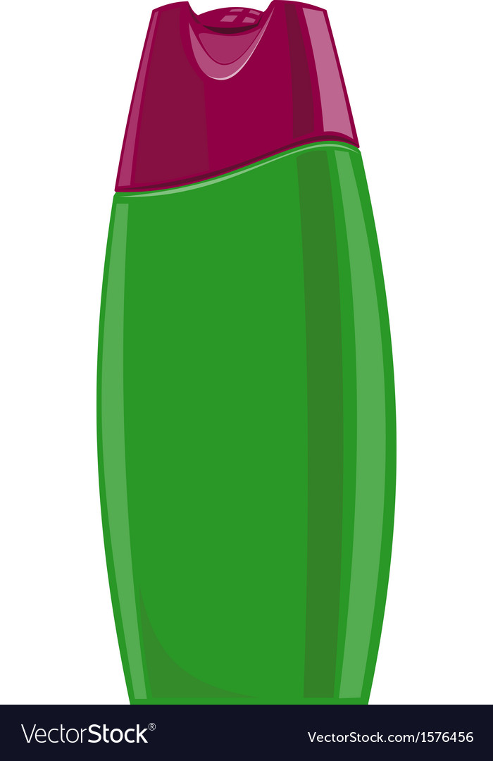 Shampoo bottle vector