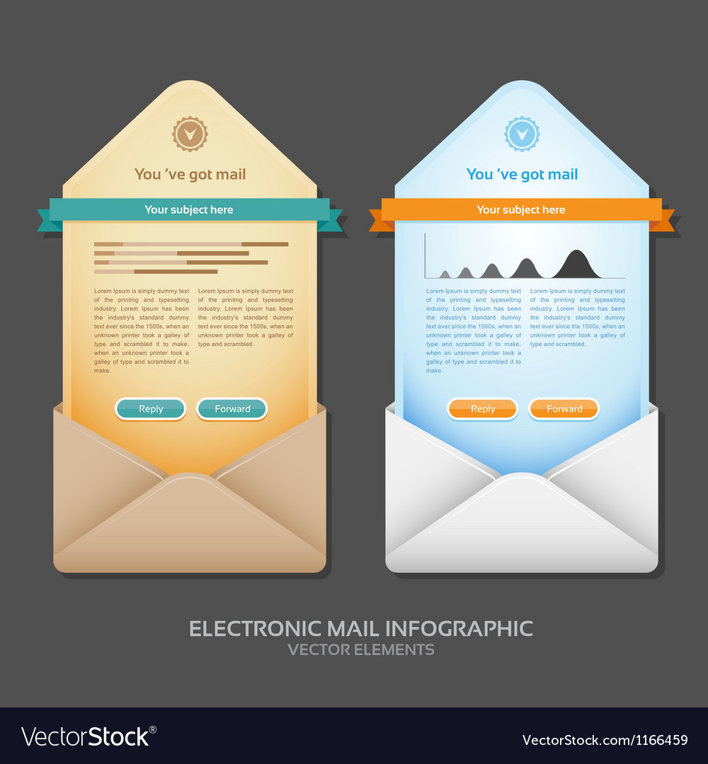 Email info graphic vector
