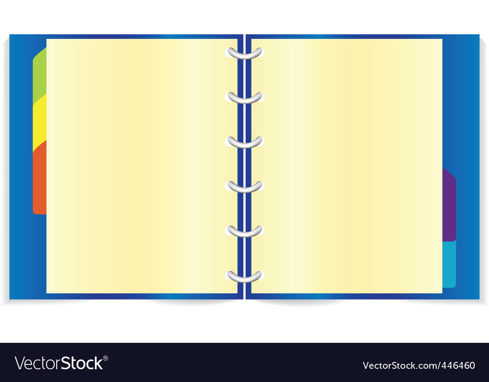 Blue notebook vector