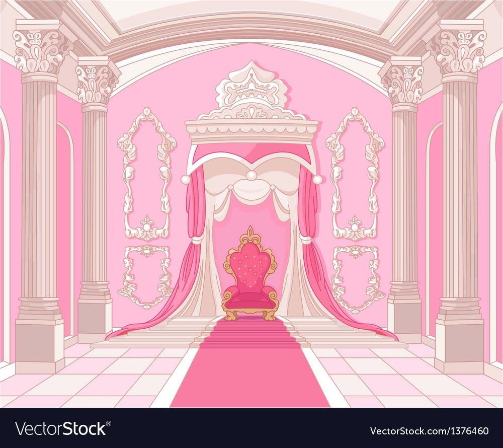 Throne room of magic castle vector