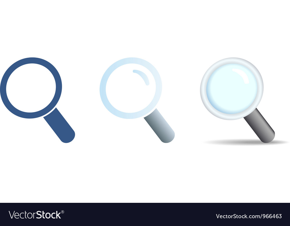 Search icons set vector