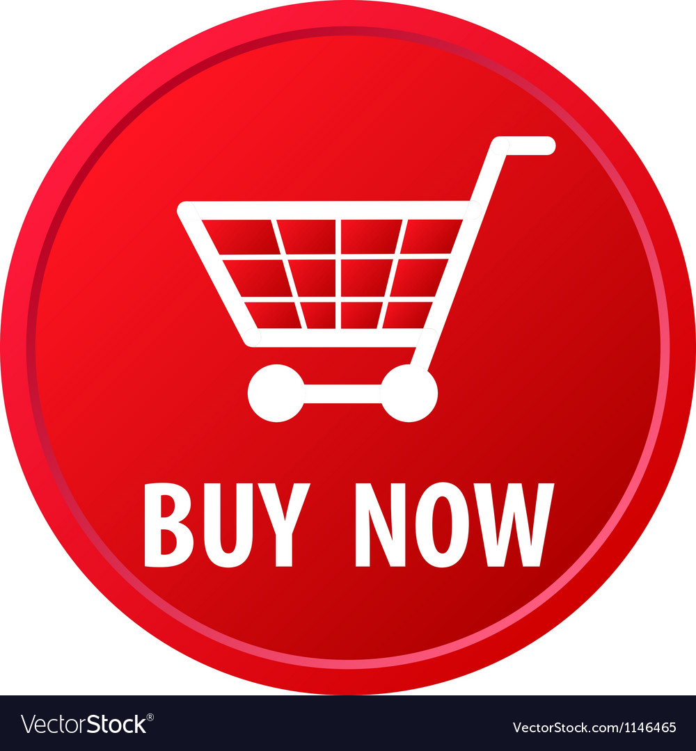 Shopping basket button vector