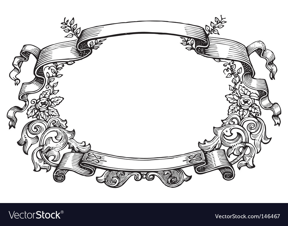 Antique frame engraving vectorAntique Picture Frames Vector