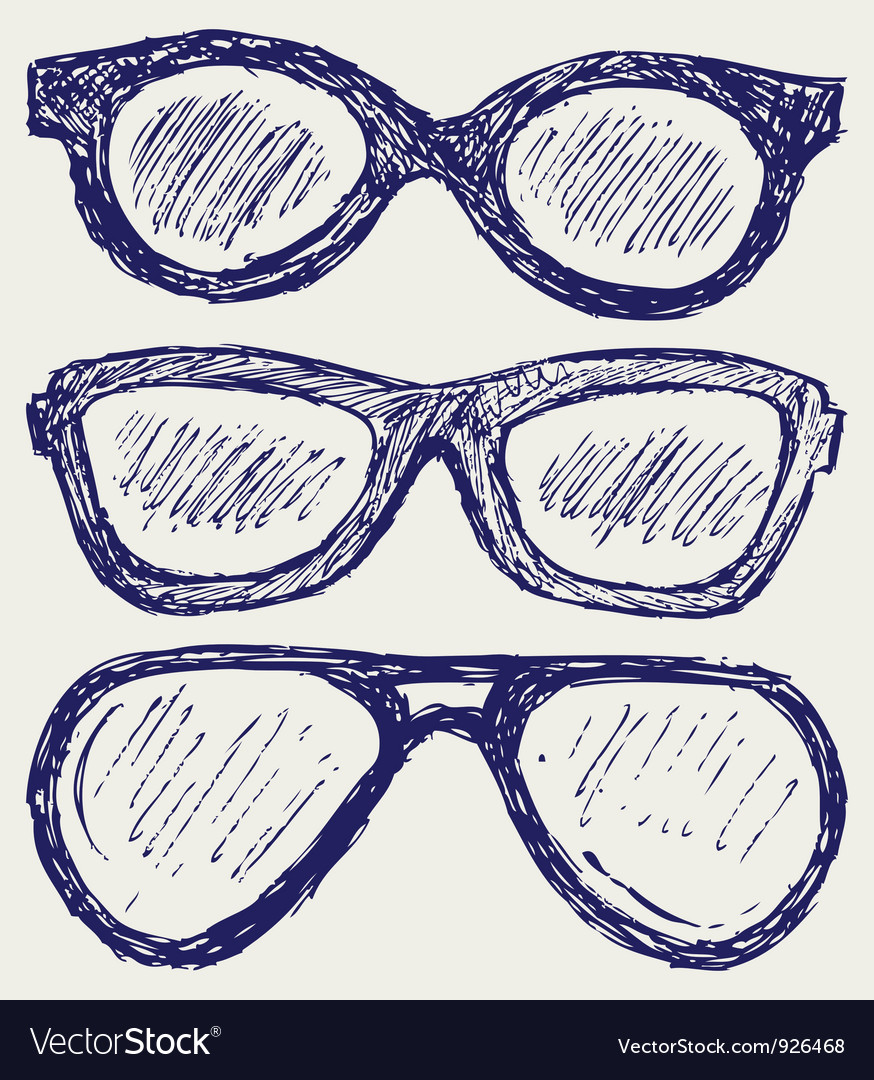 Glasses silhouettes vector