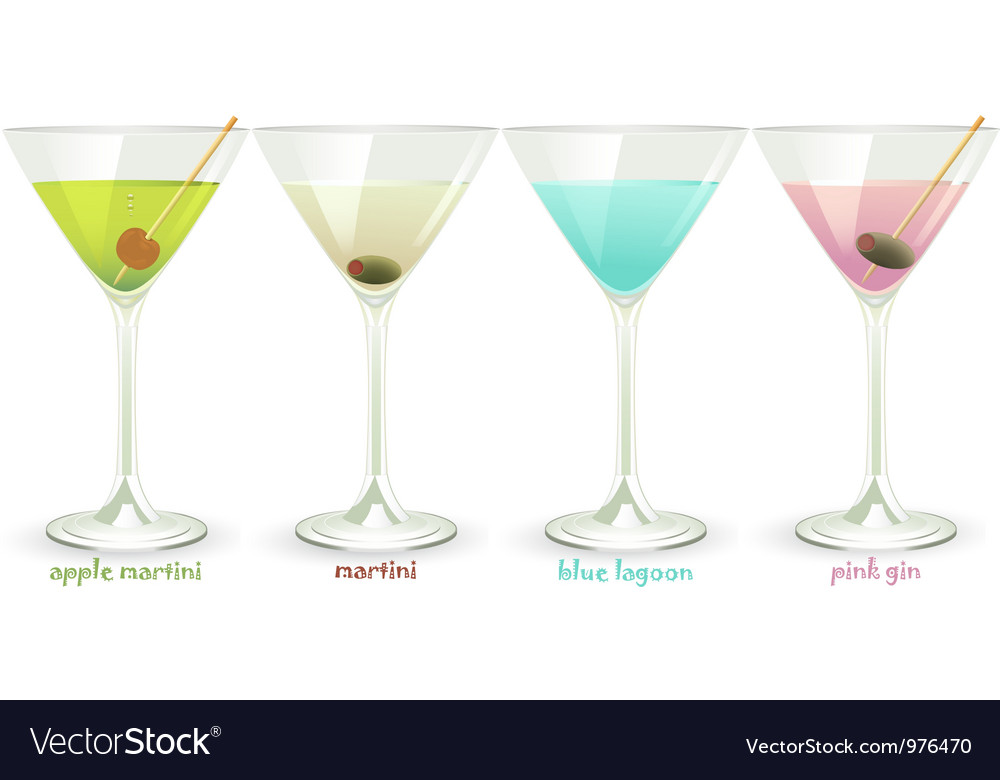 Cocktails set vector