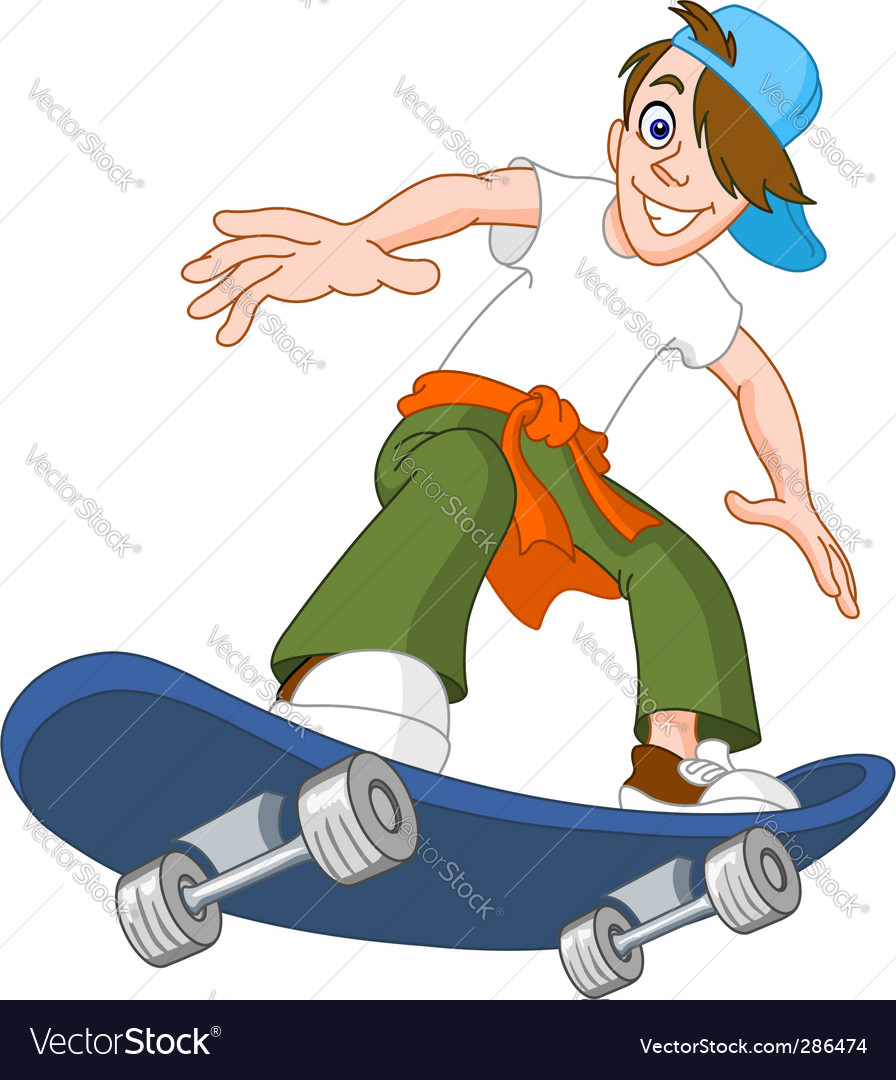 Skateboard boy vector