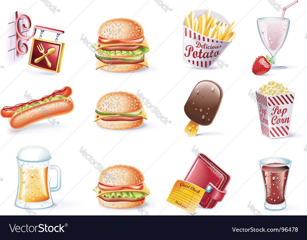 Cartoon icons vector