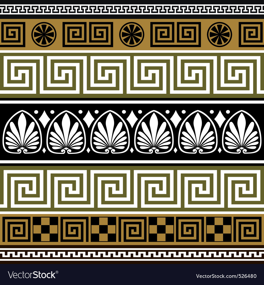 Greek borders vector