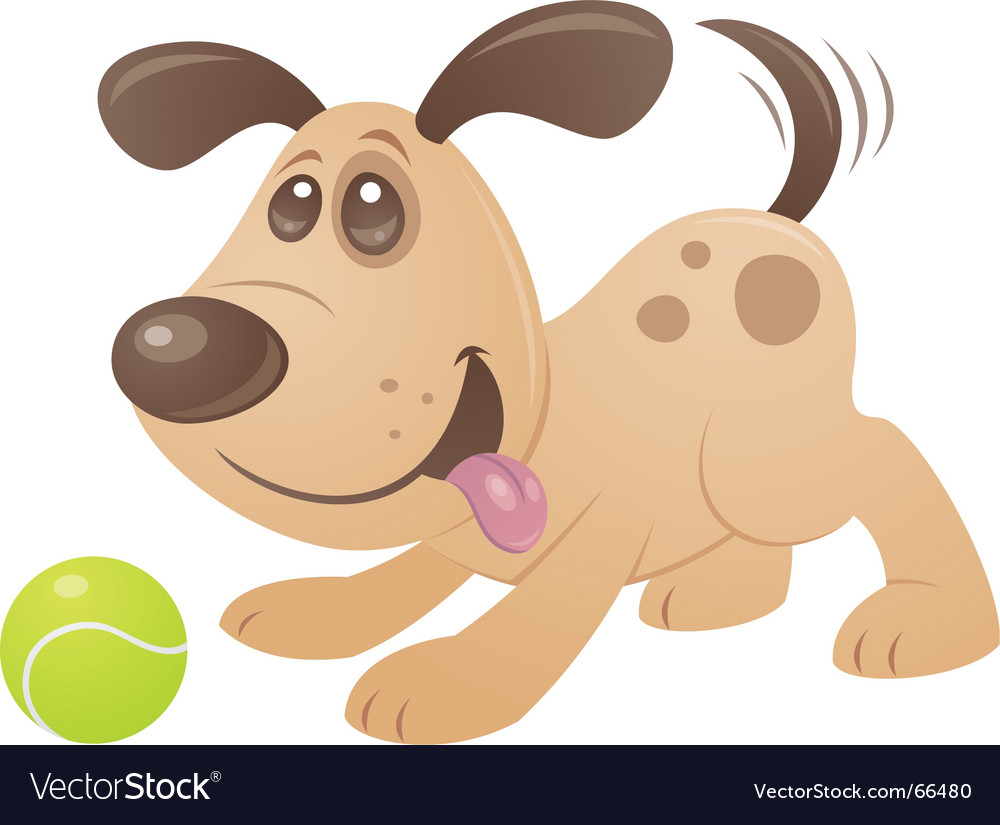 Playful puppy vector