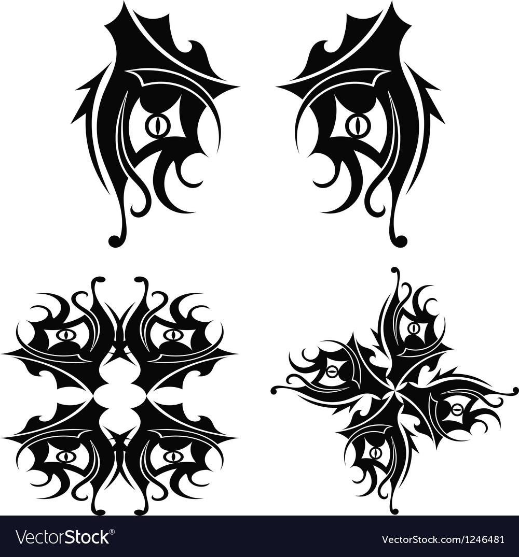 Free graphic design tribal tattoo vector