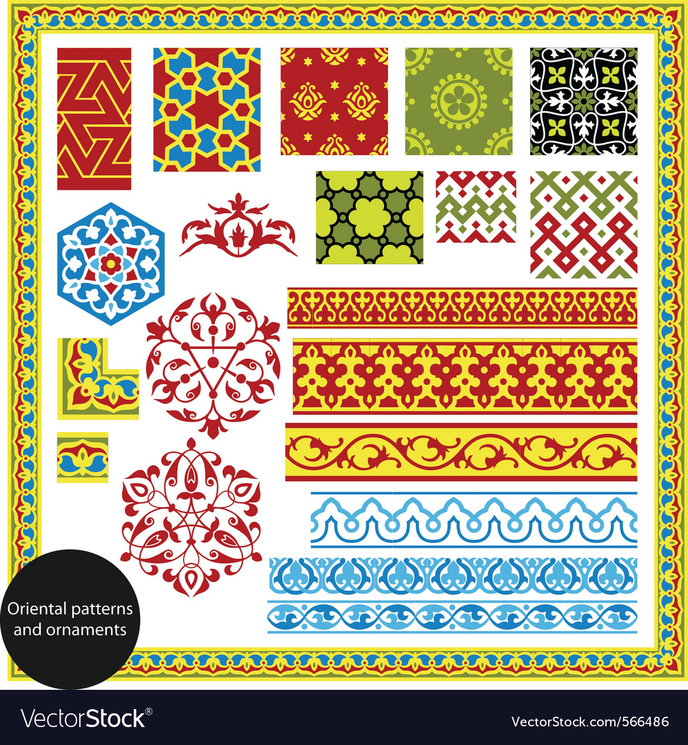 Oriental patterns vector