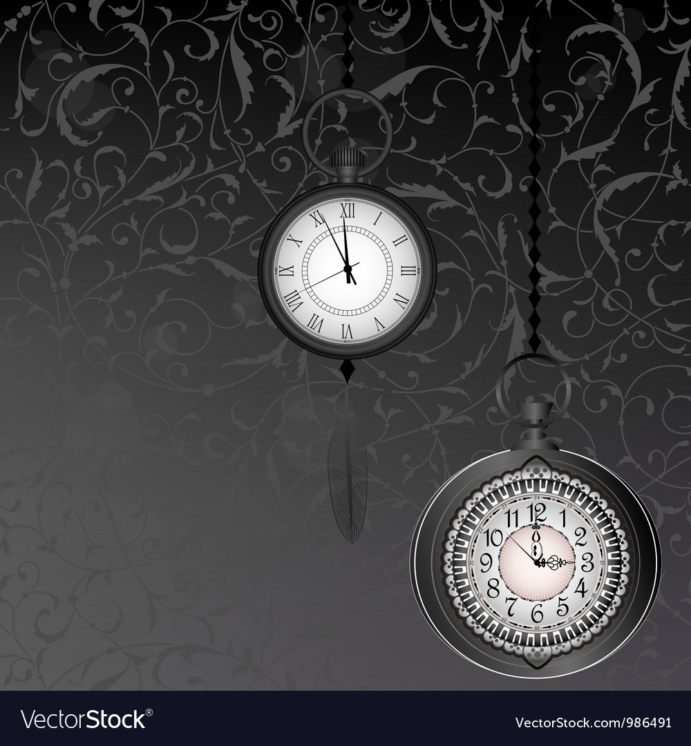 Abstract black and white wallpaper with pocket vector