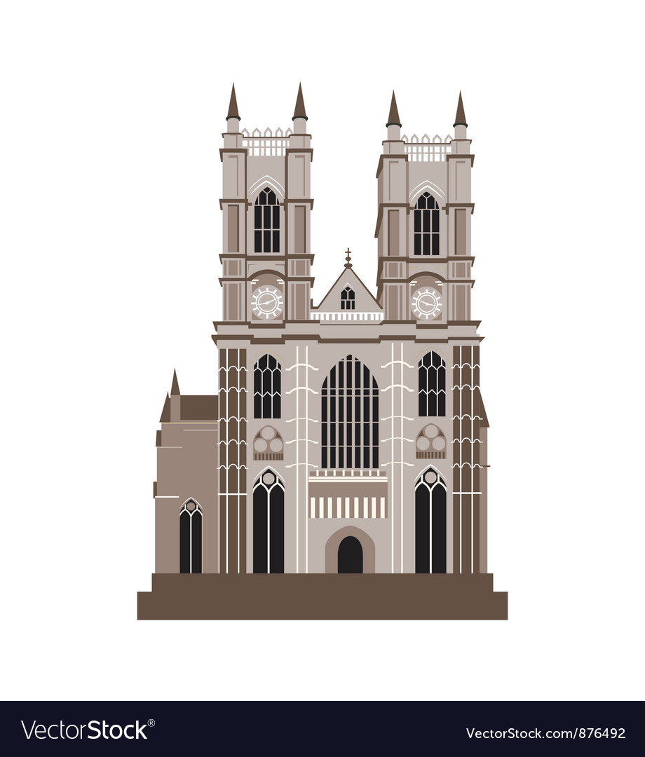 Catholic cathedral vector