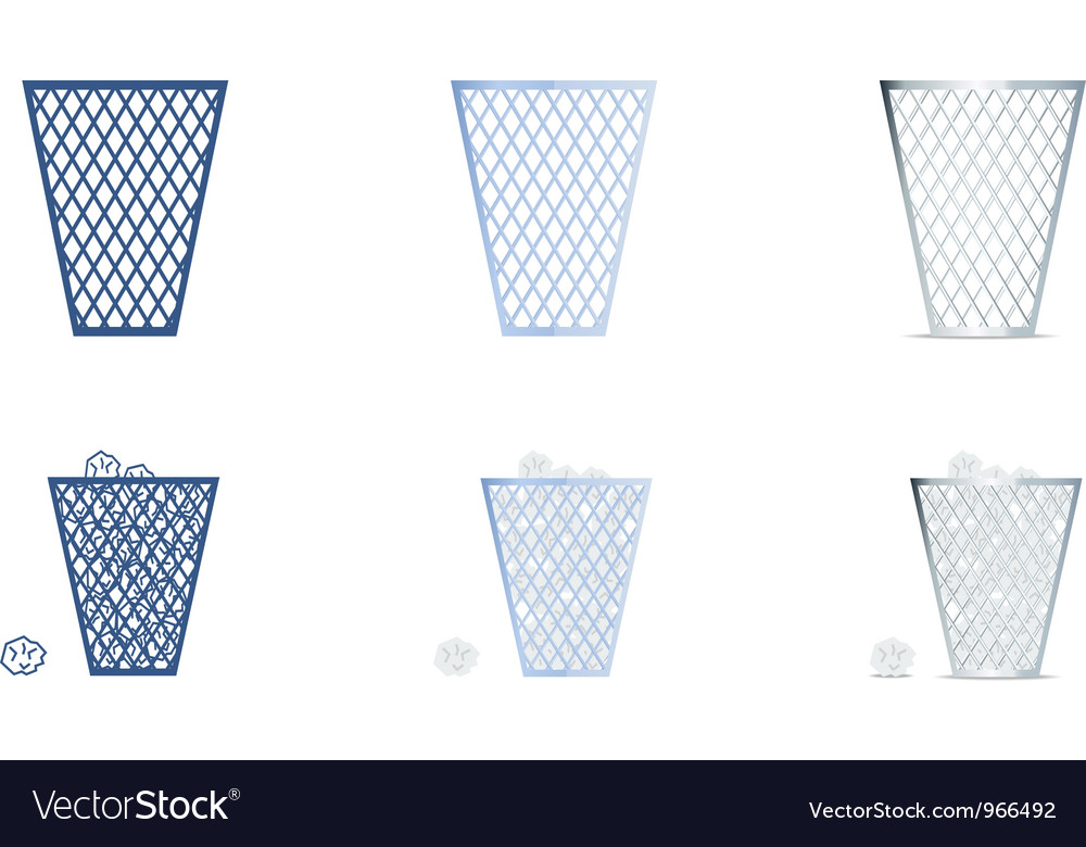 Trash icons set vector