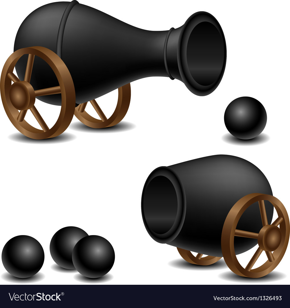Cannon set vector