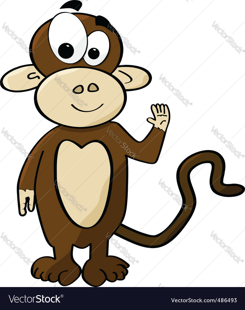 Eps Vectors Funny Monkey Cartoon Vector Illustration