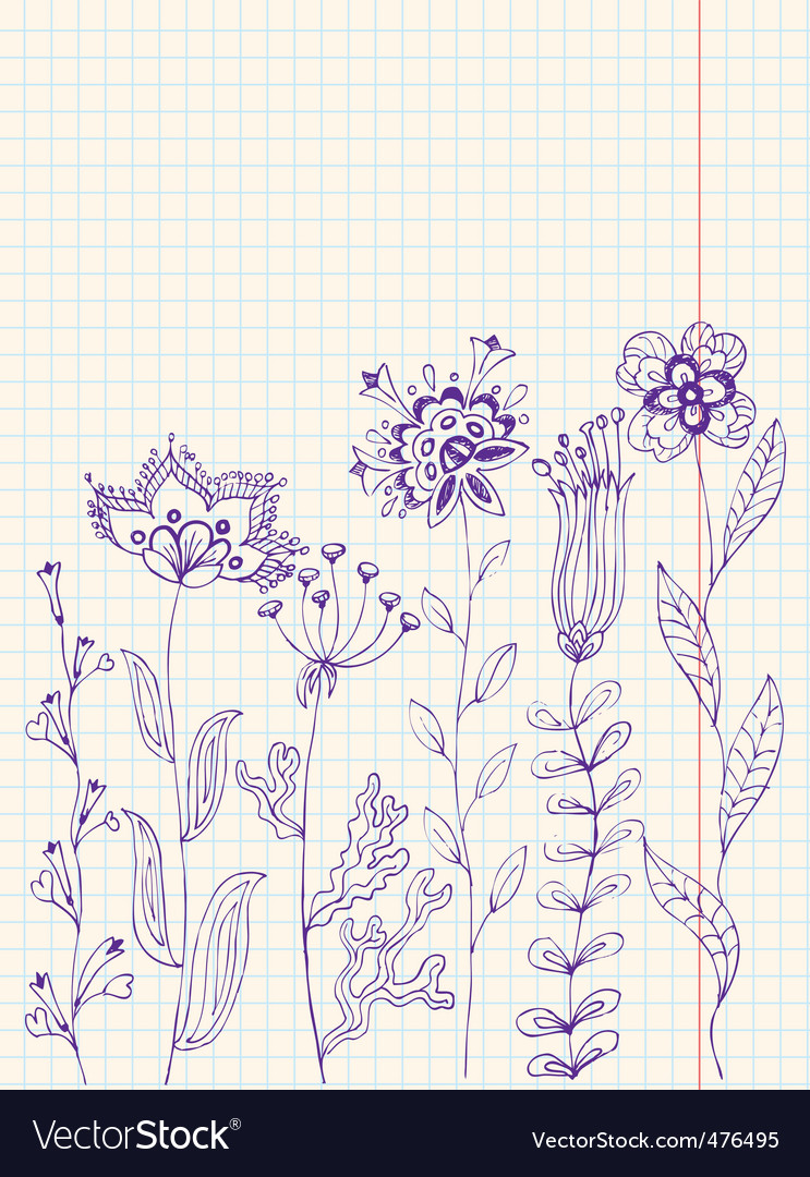 Floral doodles vector