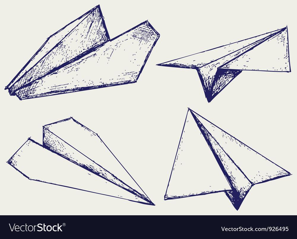 Paper planes vector