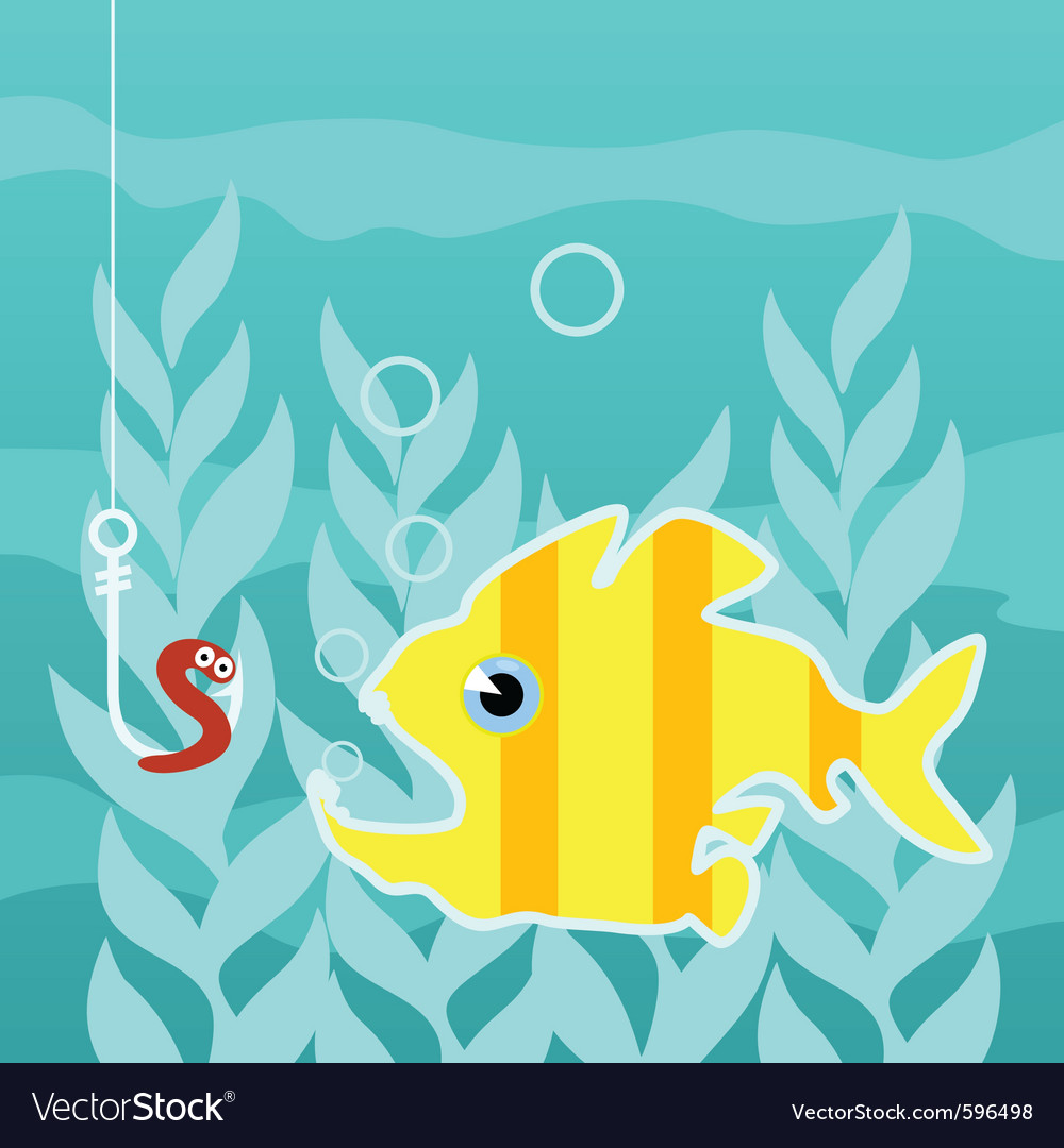 Predatory fish vector
