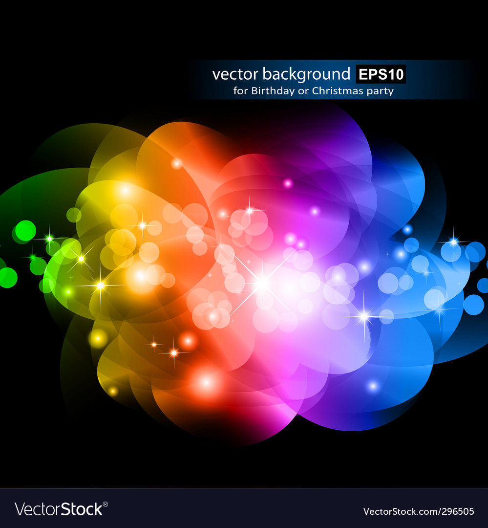 Abstract rainbow design vector