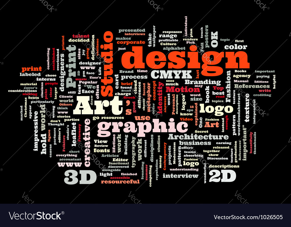 Graphic design studio vector
