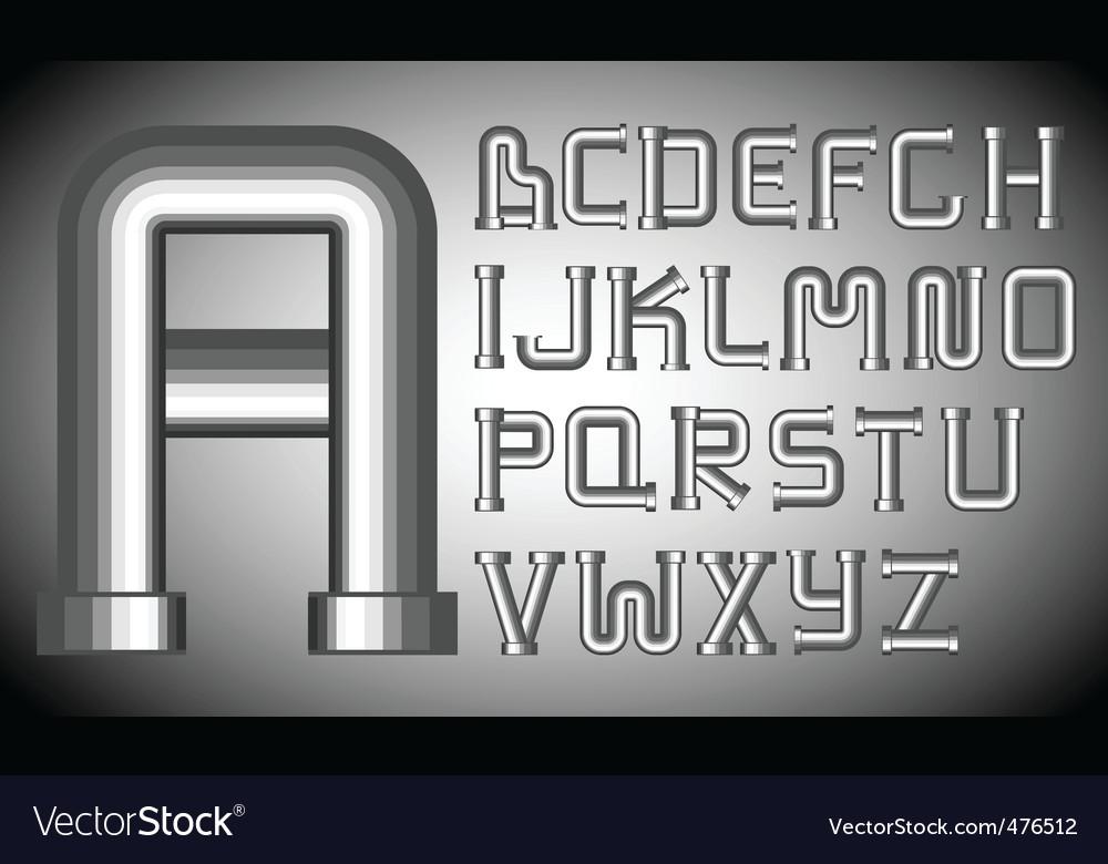 Funnels alphabet vector