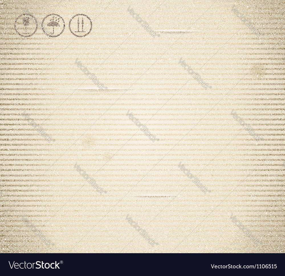 Cardboard texture vintage vector