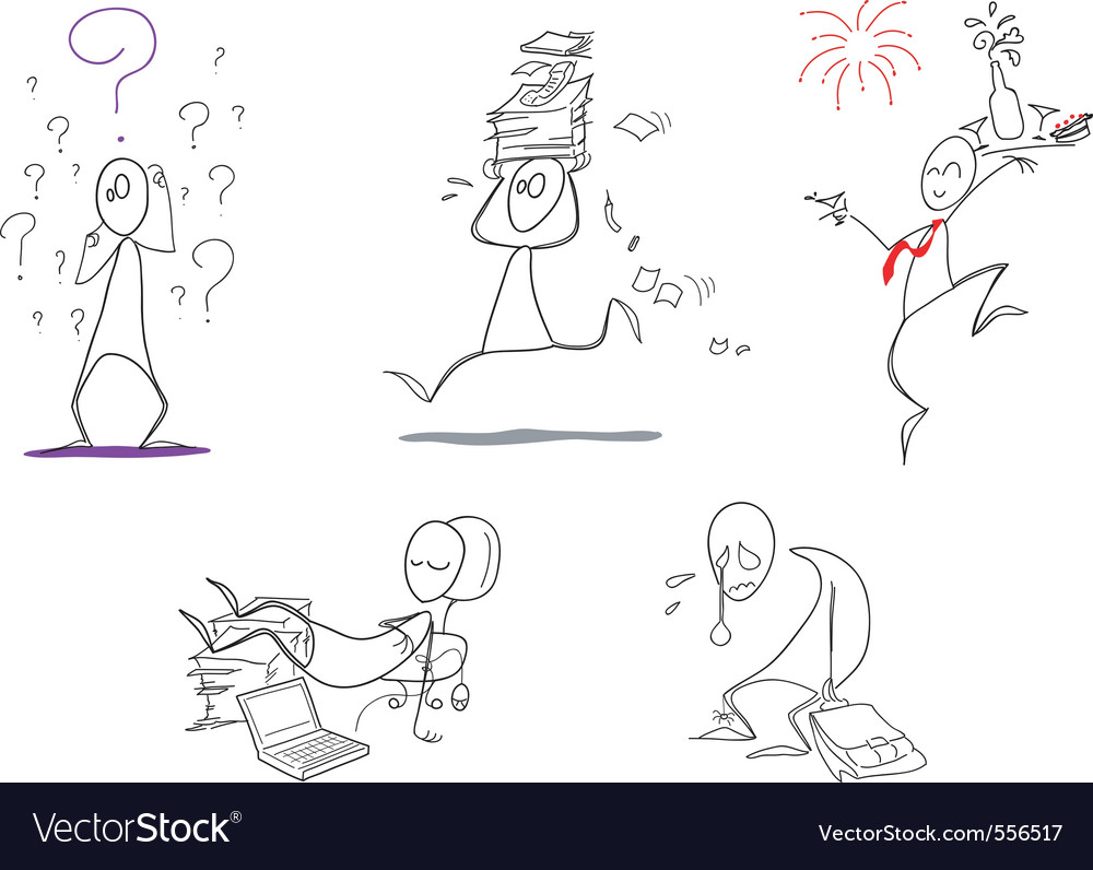Humorous clip arts vector