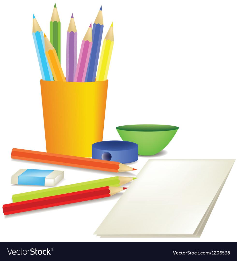 Crayons vector