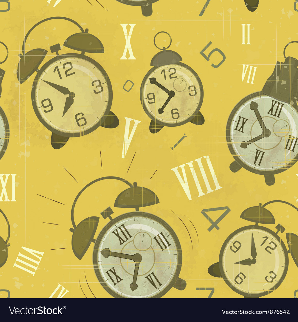 Alarm clocks seamless vector