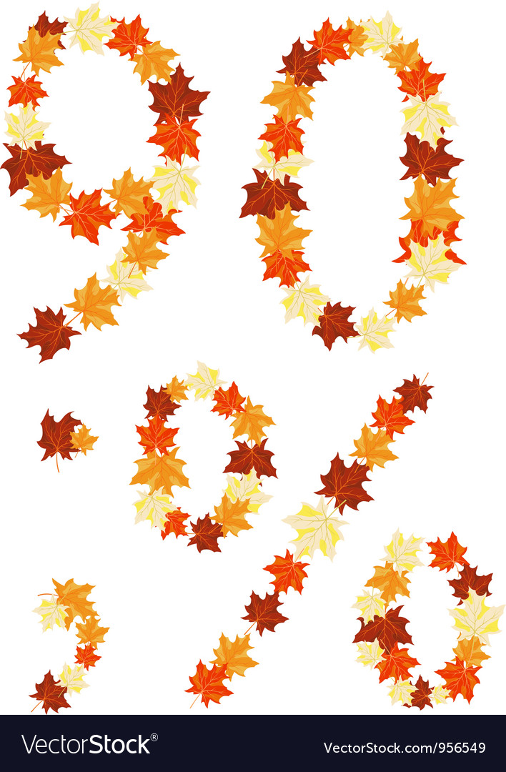 Autumn letter vector