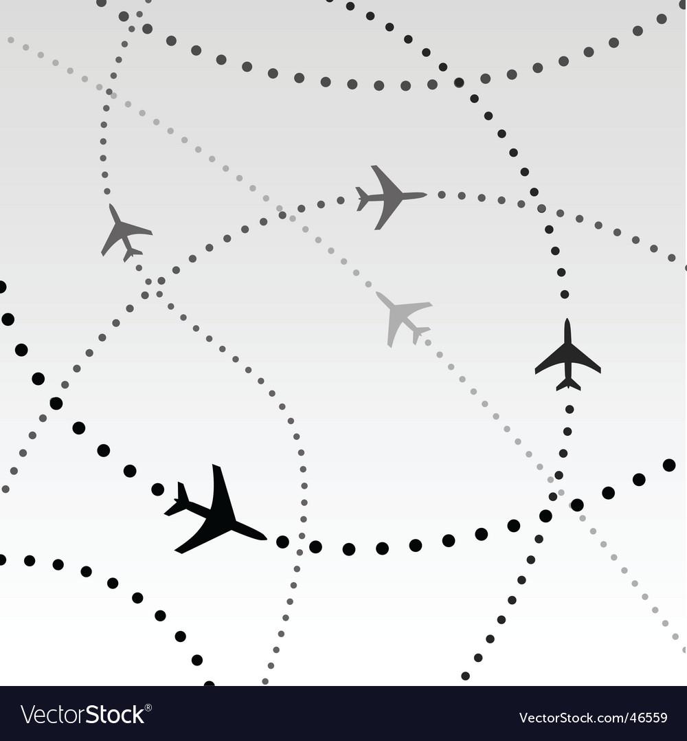 Flight paths vector