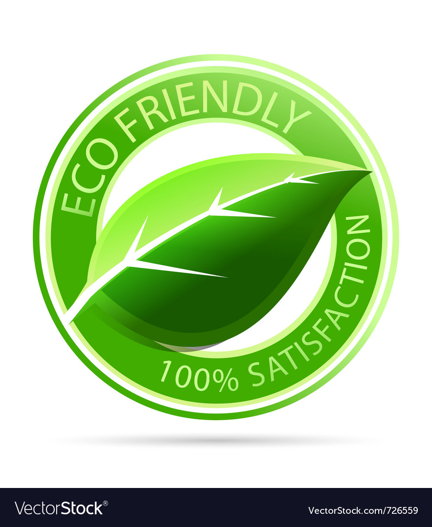 Green eco friendly tags vector