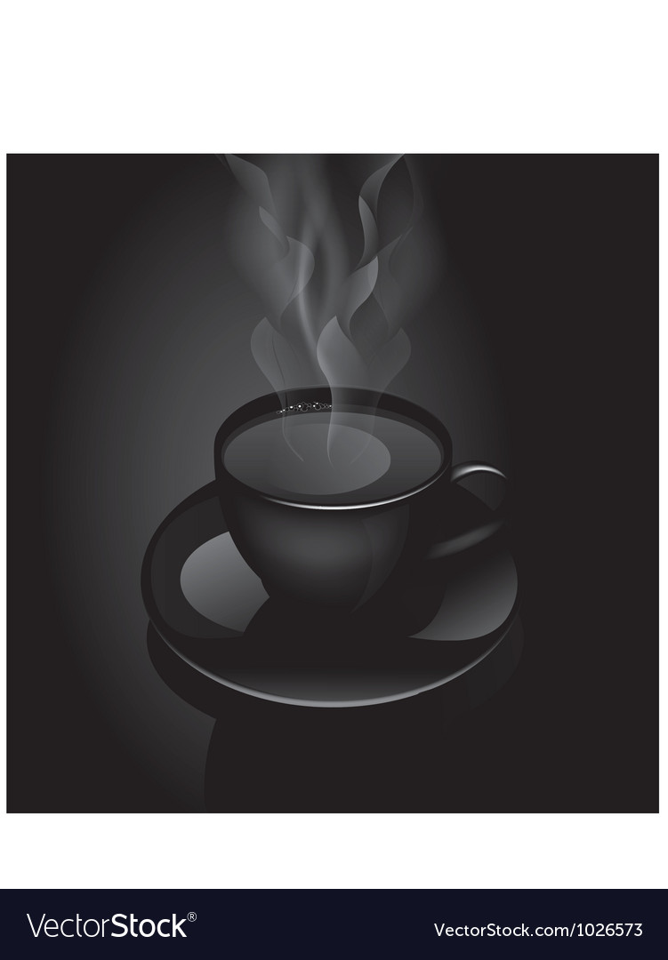 Hot drink cup vector
