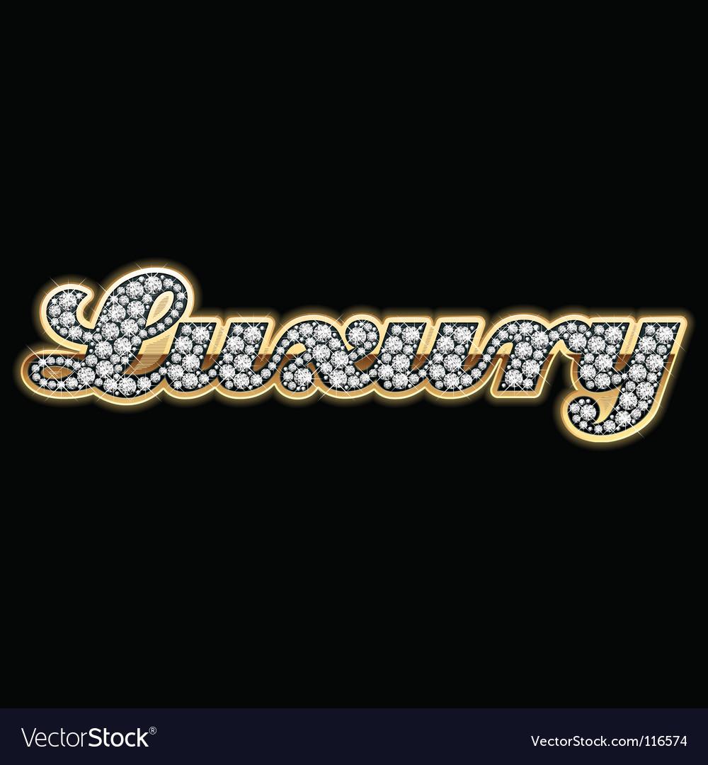 Luxury in diamonds vector