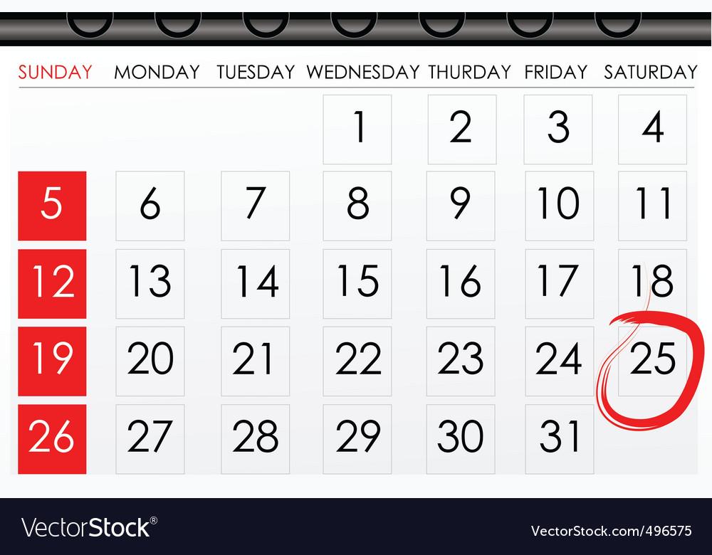 Calender for reminder vector by get4net - Image #496575 - VectorStock