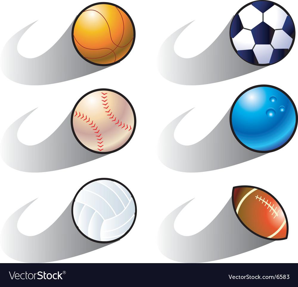 Balls seedy vector