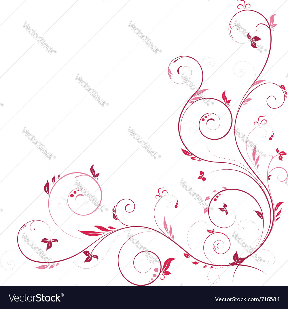Floral corner vector by AlanaDesign - Image #716584 - VectorStock