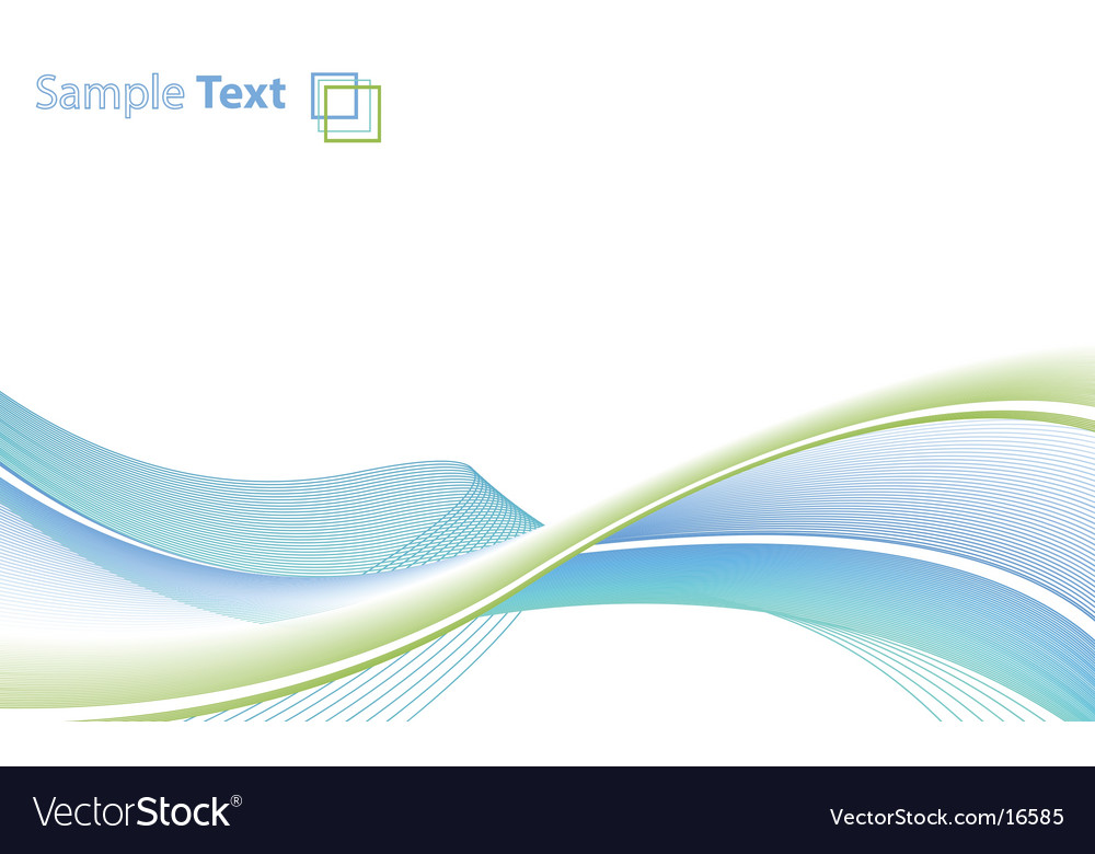Flowing background vector
