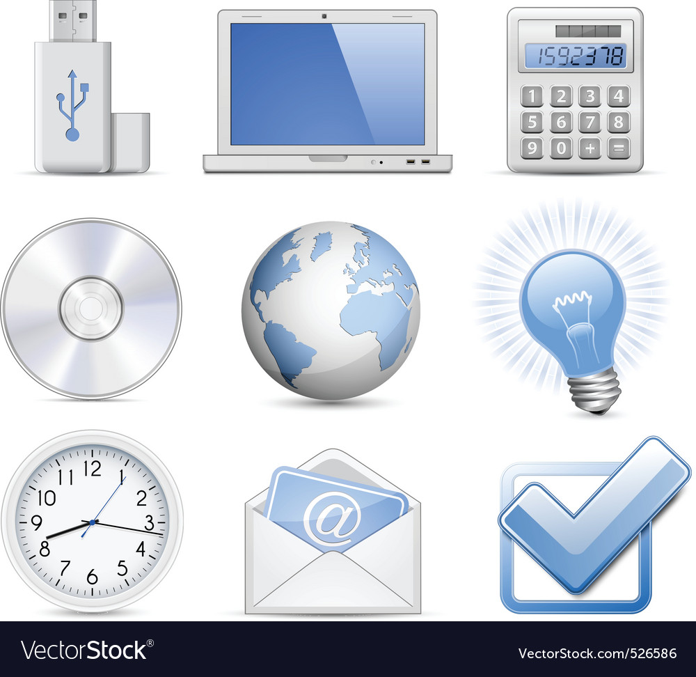 Universal web icon set vector