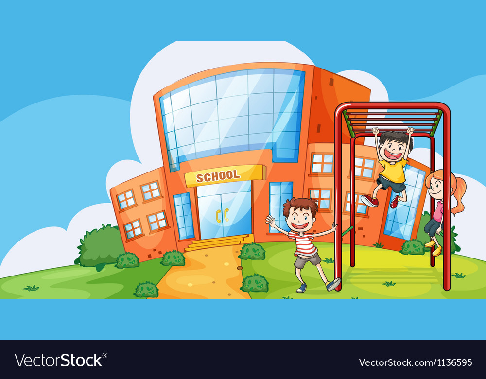 Kids and monkey bar vector