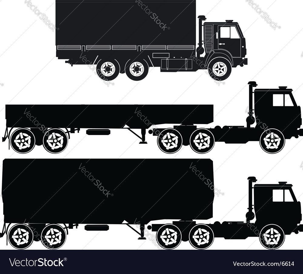 Set of truck illustrations vector