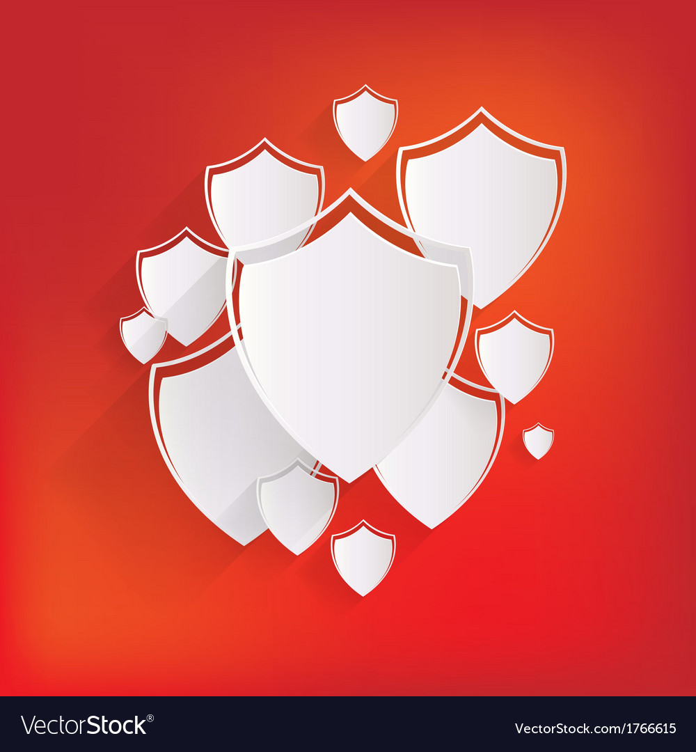 Shield protection icon vector