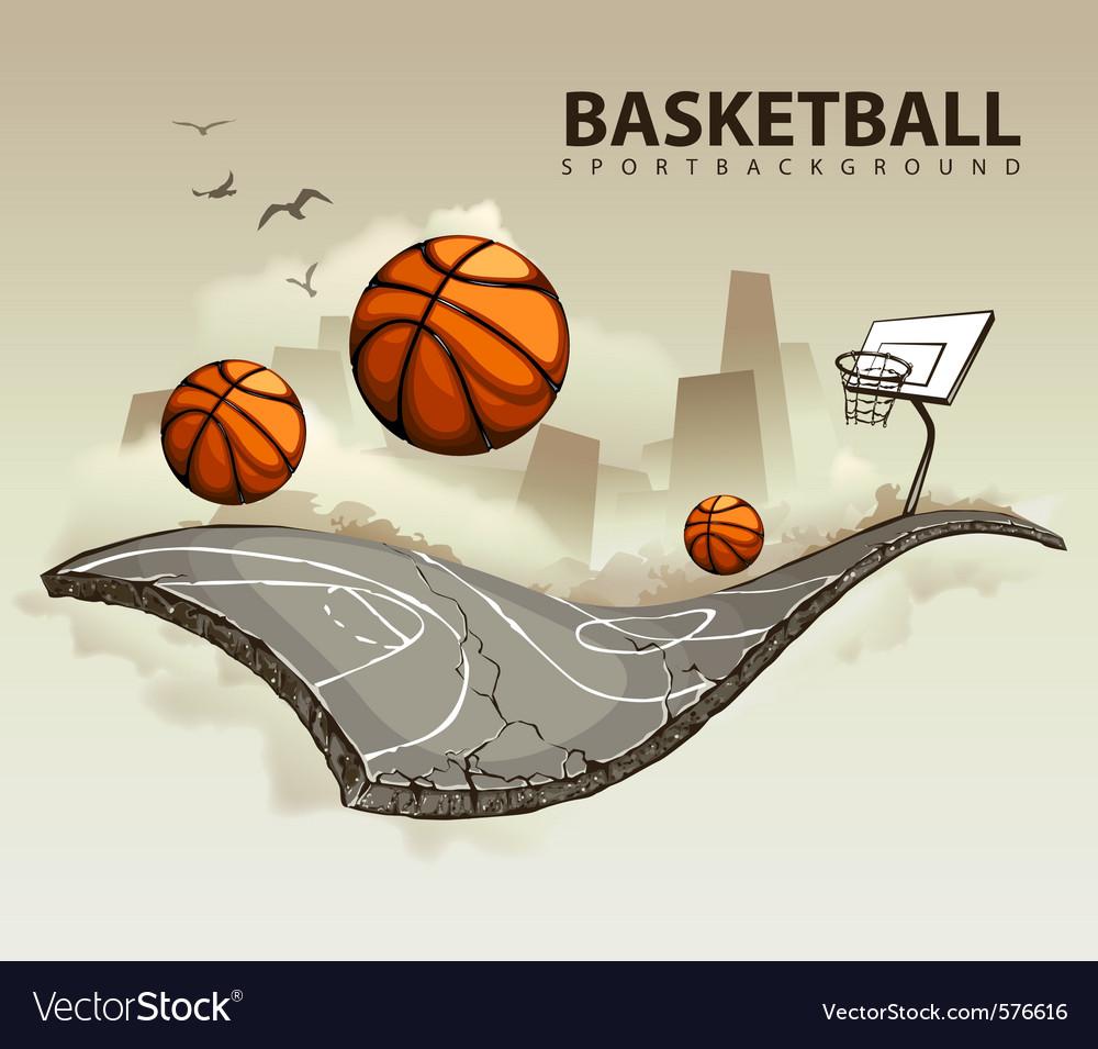 Basketball court vector