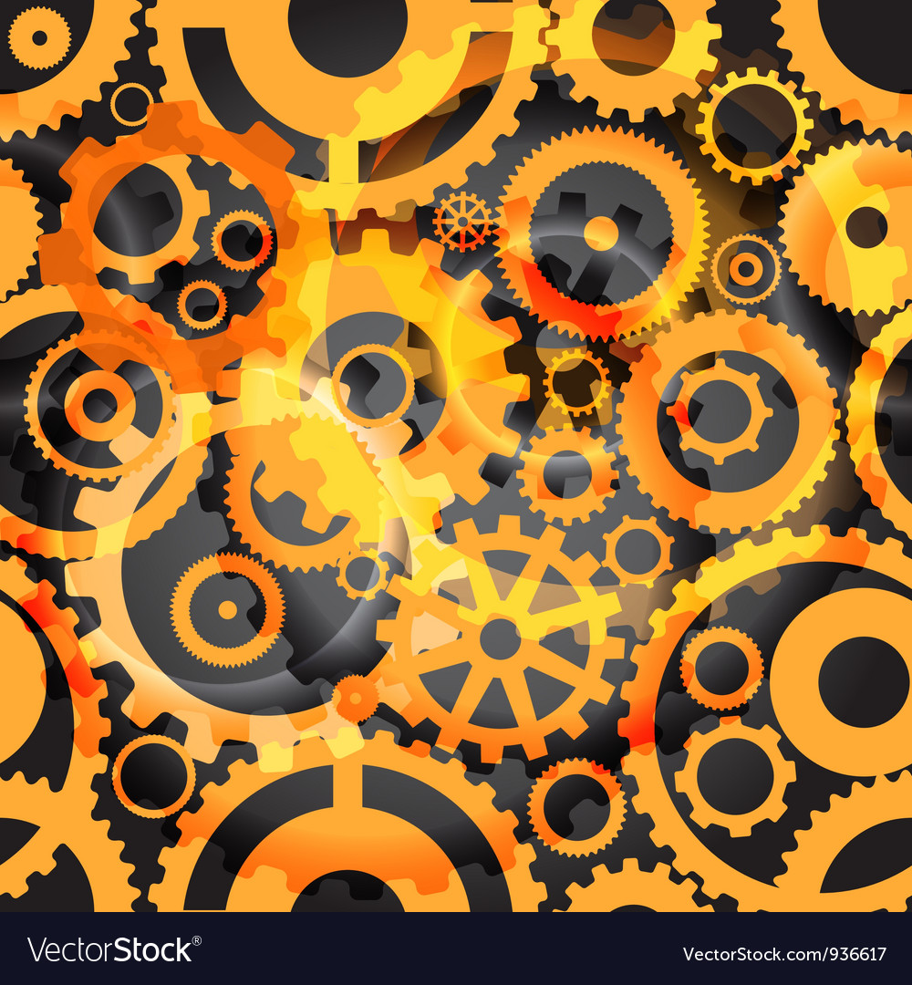 Seamless background or different gear wheels vector