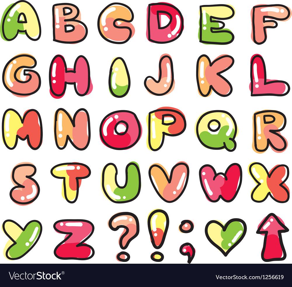 Funny alphabet vector
