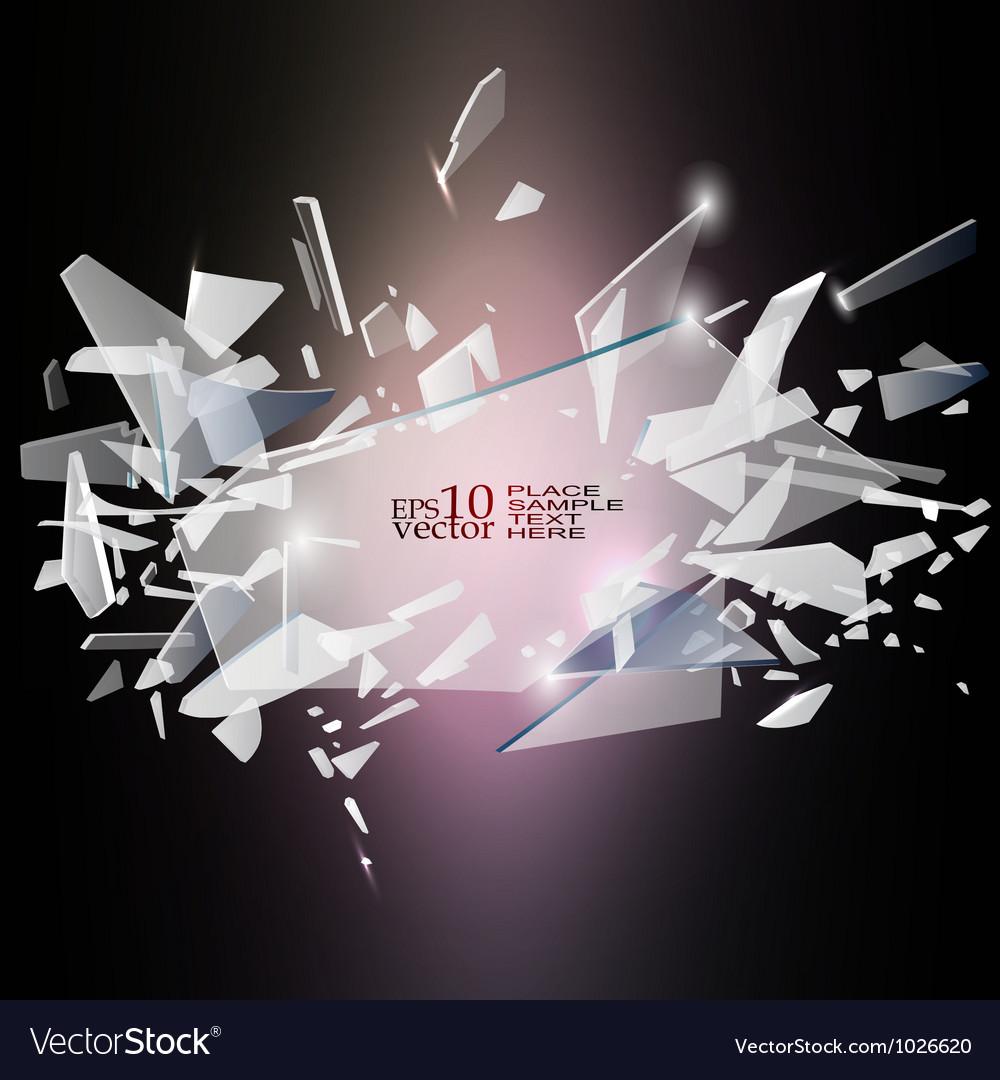 Broken glass design vector