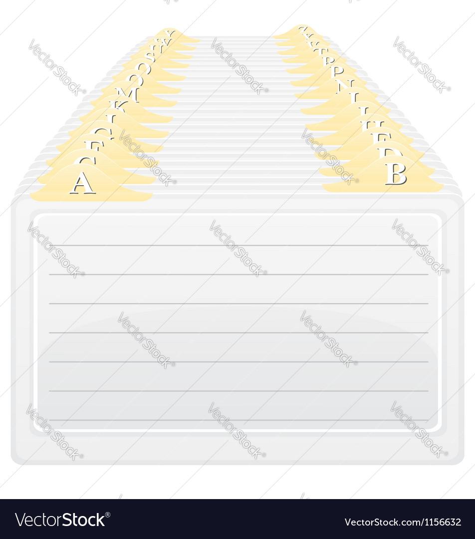 Catalog in alphabetical order vector